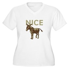 Nice Donkey Plus Size T-Shirt