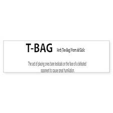 TBAG Bumper Bumper Sticker