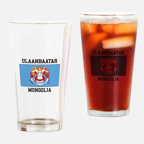 Ulaanbaatar, Mongolia Drinking Glass
