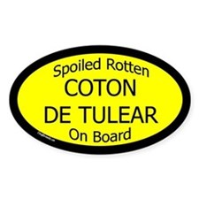 Spoiled Coton de Tulear On Board Oval Decal