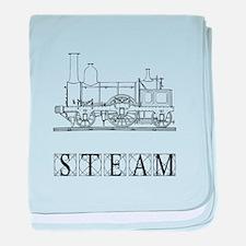 Steam Train baby blanket