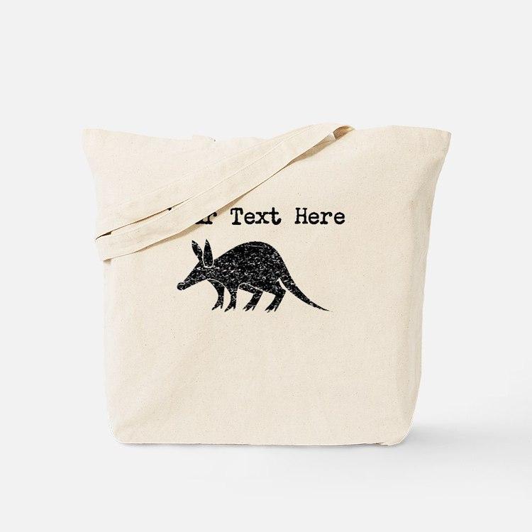 Distressed Aardvark Silhouette (Custom) Tote Bag