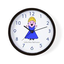 Little Miss Ballroom Wall Clock