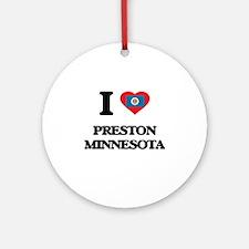I love Preston Minnesota Ornament (Round)