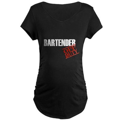 Off Duty Bartender Maternity Dark T-Shirt