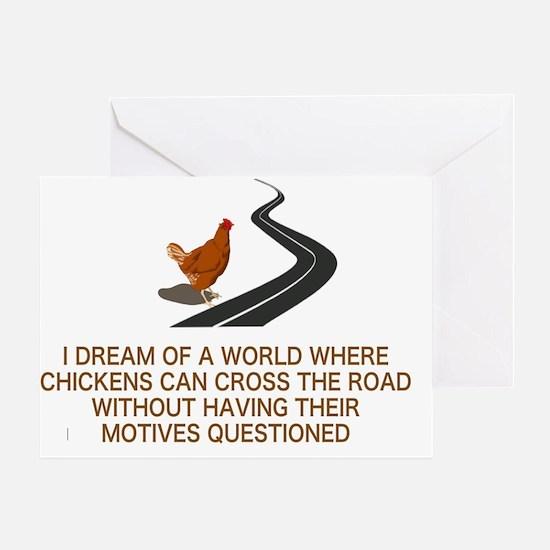 Unique Chicken Greeting Card