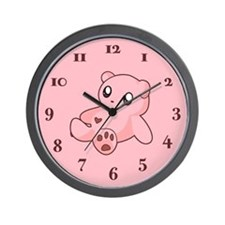 Pink Teddy Bear anime/manga Wall Clock