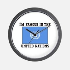 I'M Famous In the United Nations Wall Clock