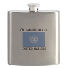 I'M Famous In the United Nations Flask