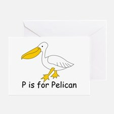P is for Pelican Greeting Card