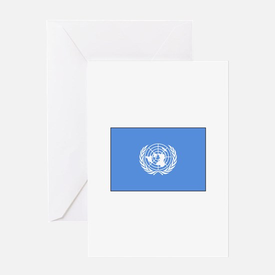UNITED NATIONS FLAG Greeting Cards