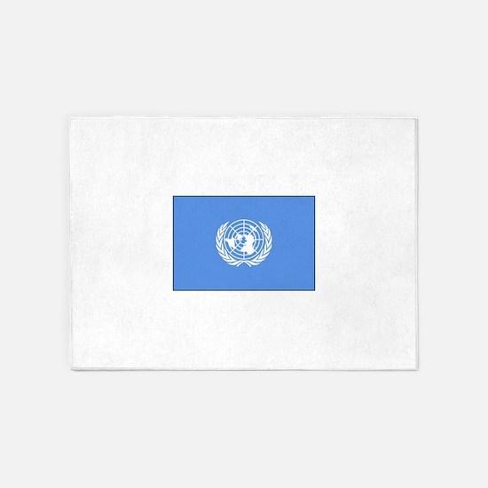 UNITED NATIONS FLAG 5'x7'Area Rug
