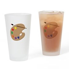 Painters Palette Drinking Glass