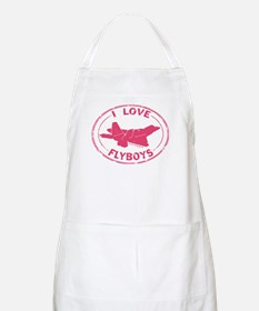 I Love Flyboys -pink BBQ Apron