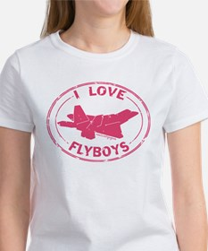 I Love Flyboys -pink Women's T-Shirt