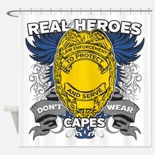 Real Heroes Law Enforcement Shower Curtain