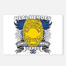 Real Heroes Law Enforceme Postcards (Package of 8)