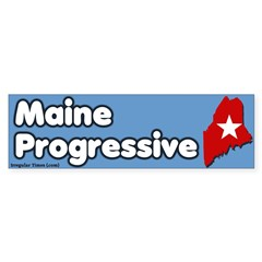 Maine Progressive Bumper Bumper Sticker