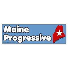Maine Progressive Bumper Bumper Sticker
