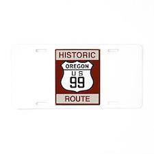 Oregon Highway 99 Aluminum License Plate
