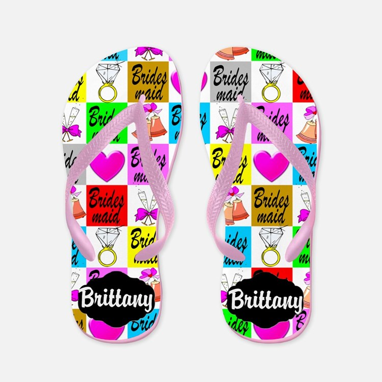 Bridesmaid Love Flip Flops