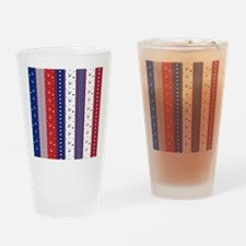 Patriotic Strs & Stripes Abstract A Drinking Glass