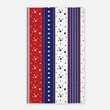 Patriotic Strs & Stripes Abstract America Area Rug