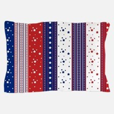 Patriotic Strs & Stripes Abstract Amer Pillow Case