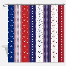 Patriotic Strs & Stripes Abstract A Shower Curtain