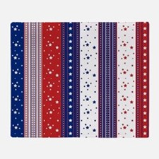Patriotic Strs & Stripes Abstract Am Throw Blanket
