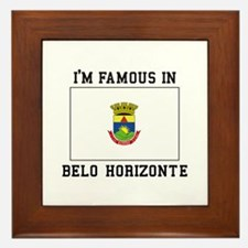 I'M Famous IN Belo Horizonte Framed Tile