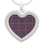 Tartan - Scotland Silver Heart Necklace