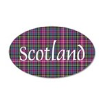 Tartan - Scotland 35x21 Oval Wall Decal
