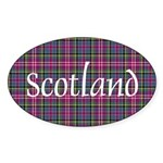 Tartan - Scotland Sticker (Oval 10 pk)
