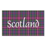Tartan - Scotland Sticker (Rectangle 50 pk)