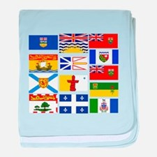 Canadian Provinces baby blanket
