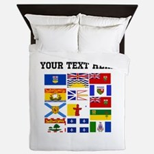 Custom Canadian Provinces Queen Duvet