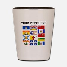 Custom Canadian Provinces Shot Glass