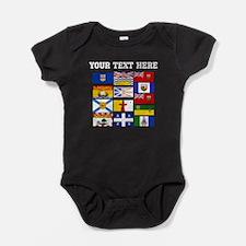 Custom Canadian Provinces Baby Bodysuit