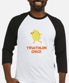 Triathlon Chick Baseball Jersey
