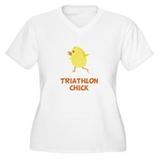 Triathlon Chick Plus Size T-Shirt