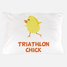 Triathlon Chick Pillow Case