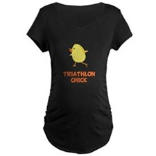 Triathlon Chick Maternity T-Shirt