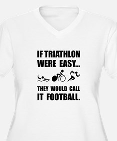 Triathlon Football Plus Size T-Shirt