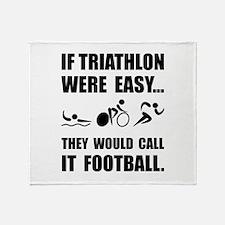 Triathlon Football Throw Blanket