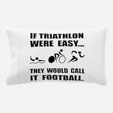 Triathlon Football Pillow Case