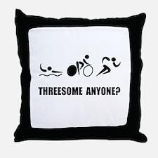 Triathlon Threesome Anyone Throw Pillow
