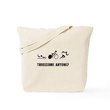 Triathlon Threesome Anyone Tote Bag