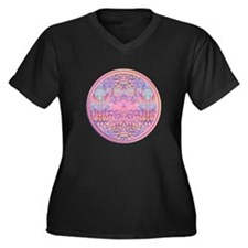 Dream Totem Women's V-Neck Dark Plus Size T-Sh