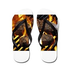 bbq steaks Flip Flops
